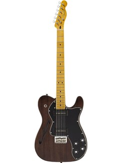 Fender: Modern Player Telecaster Thinline Deluxe (Maple Fingerboard/Black Transparent) Instruments | Electric Guitar