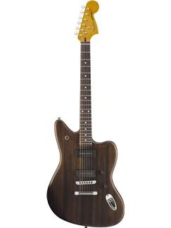 Fender: Modern Player Jaguar (Rosewood Fingerboard/Black Transparent) Instruments | Electric Guitar