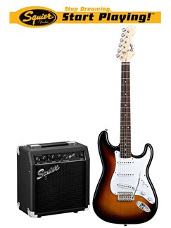 Squier: SE Special Strat With SP-10 Amplifier (Brown Sunburst) Instruments | Electric Guitar