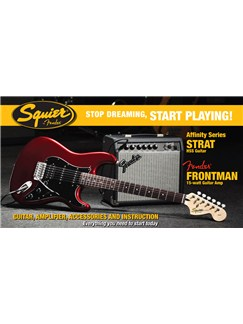 Squier: Affinity Strat HSS Pack with Frontman 15G Amplifier (Candy Apple Red) Instruments | Electric Guitar