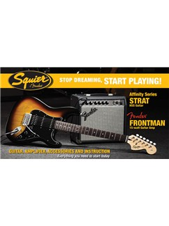 Squier: Affinity HSS Stratocaster Pack (Brown Sunburst) Instruments | Electric Guitar