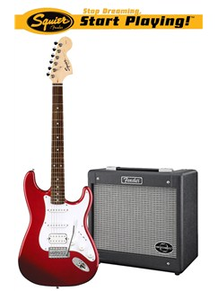 Squier: Affinity Stratocaster HSS/G-DEC Junior Pack - Red Instruments | Electric Guitar