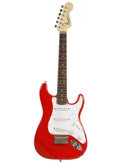Squier: Mini Affinity Stratocaster (Torino Red) Instruments | Electric Guitar