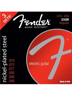 Fender: 250R Nickel Steel Ballend 10-46 Electric Guitar Strings - 3 Pack  | Electric Guitar
