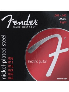 Fender: 250L Super 250s Nickel-Plated Steel Electric Guitar Strings (.009-.042)  | Electric Guitar