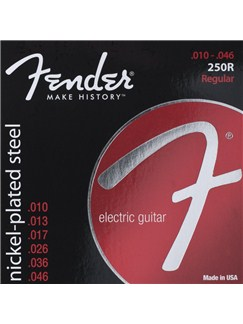 Fender: 250R Super 250s Nickel-Plated Steel Electric Guitar Strings (.010-.046)  | Electric Guitar