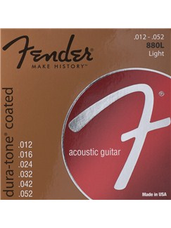 Fender: 880L Dura-Tone Coated Acoustic Guitar Srings (.012-.052)  | Acoustic Guitar