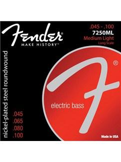 Fender: 7250ML Super 7250 Long Scale Bass Strings (.045-.100)  | Bass Guitar
