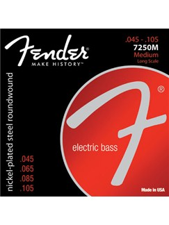 Fender: 7250M Super 7250 Long Scale Bass Strings (.045-.105)  | Bass Guitar