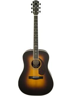 Fender: PM1 Paramount Deluxe Dreadnought Acoustic Guitar - Vintage Sunburst Instruments | Acoustic Guitar