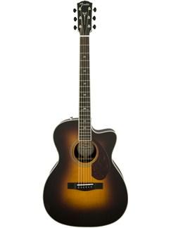 Fender: PM3 Paramount Deluxe 000 Folk Acoustic Guitar - Vintage Sun Burst Instruments | Acoustic Guitar