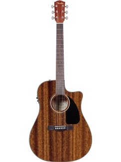 Fender: CD-60CE Classic Design Electro-Acoustic Guitar - All Mahogany Instruments | Electro-Acoustic Guitar