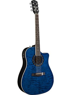 Fender: T-Bucket 300 CE Electro-Acoustic Guitar - Transparent Blue/Rosewood Instruments | Electro-Acoustic Guitar