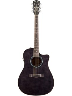 Fender: T-Bucket 300CE Electro-Acoustic Guitar (Transparent Black) Instruments | Electro-Acoustic Guitar