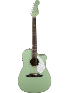 Fender: Sonoran SCE Cutaway w/ Matching Headstock Solid Spruce Top - Surf Green Instruments | Acoustic Guitar