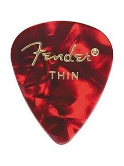 Fender: 351 Shape Guitar Pick Pack - Moto Red Thin (12 Pack)  |