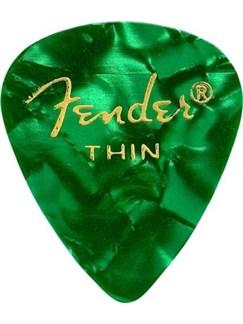 Fender: 351 Shape Guitar Pick Pack - Moto Green Thin (12 Pack)  |