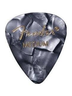 Fender: 351 Shape Guitar Pick Pack - Moto Black Medium (12 Pack)  | Guitar