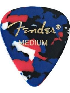 Fender: 351 Shape Guitar Pick Pack - Confetti Medium (12 Pack)  | Guitar
