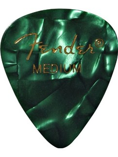 Fender: 351 Shape Guitar Pick Pack - Moto Green Medium (12 Pack)  |