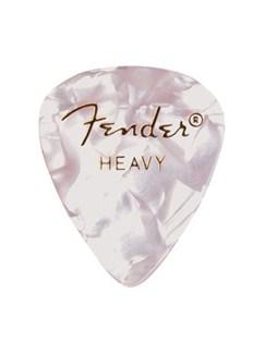 Fender: 351 Shape Guitar Pick Pack - Moto White Heavy (12 Pack)  |