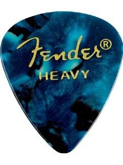 Fender: 351 Shape Guitar Pick Pack - Turquoise Ocean Heavy (12 Pack)  | Guitar