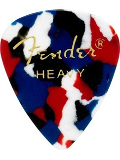 Fender: 351 Shape Guitar Pick Pack - Confetti Heavy (12 Pack)  |
