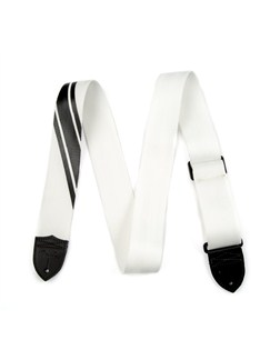 Fender: 2015 Competition Guitar Strap - White With Black  |