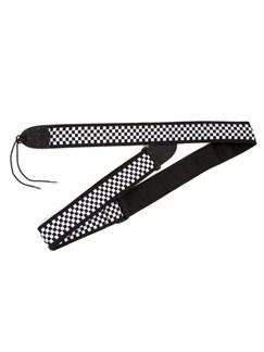 "Fender: 2"" Inch Nylon Checkerboard Guitar Strap - Black And White  |"
