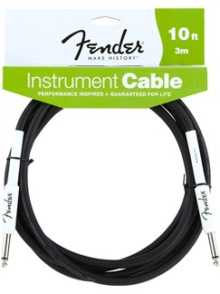 Fender: Performance Series Instrument Cable 10'/3m - Black  | Electric Guitar, Electro-Acoustic Guitar, Electro-Classical Guitar, Electro-Acoustic Bass Guitar, Semi-Acoustic Guitar