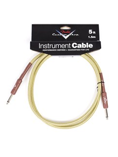 Fender: Custom Shop Performance Series Cable 5'/1.5M - Tweed  | Bass Guitar, Electric Guitar, Electro-Acoustic Guitar, Electro-Classical Guitar, Semi-Acoustic Guitar, Electro-Acoustic Bass Guitar