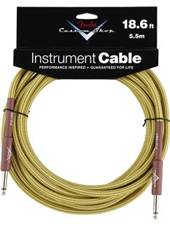 Fender: Custom Shop Performance Series Cable 18.6'/5.5m - Tweed  | Electric Guitar, Electro-Acoustic Guitar, Electro-Acoustic Bass Guitar, Electro-Classical Guitar, Bass Guitar, Semi-Acoustic Guitar
