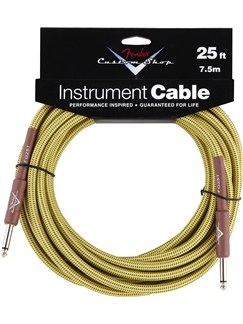 Fender: Custom Shop Performance Series Cable 25'/7.5m - Tweed  | Bass Guitar, Electric Guitar, Electro-Acoustic Guitar, Electro-Classical Guitar, Semi-Acoustic Guitar, Electro-Acoustic Bass Guitar