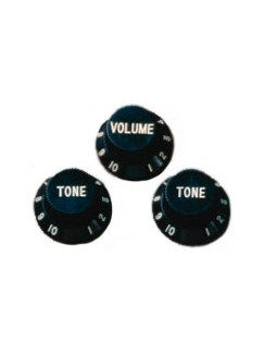Fender: Stratocaster Original Replacement Knobs - 3x Black  | Electric Guitar