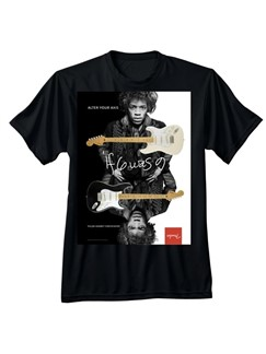 Fender® Jimi Hendrix® Collection Alter Your Axis T-Shirt: Black (X Large)  |