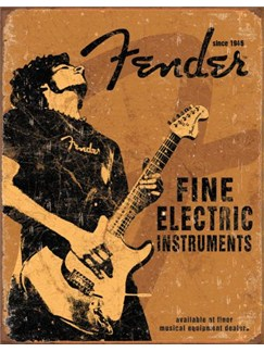 Fender: Fine Electric Instruments Tin Sign  |