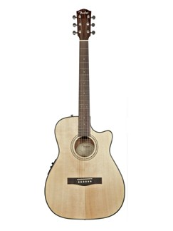 Fender: CF140SCE Electro-Acoustic Guitar -  Folk Natural Cutaway Instruments | Electro-Acoustic Guitar
