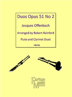 Jacques Offenbach: Duos Op. 51 No. 2 Books | Clarinet, Flute