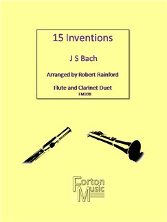 J. S. Bach: 15 Inventions Books | Clarinet, Flute