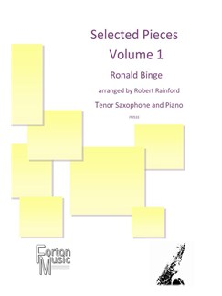 Ronald Binge: Selected Pieces By Ronald Binge - Volume 1 Books | Tenor Saxophone, Piano Accompaniment