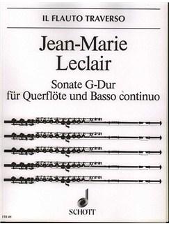 Jean Marie Leclair: Sonata G Op. 9 No. 7 Books | Flute, Double Bass, Piano Accompaniment