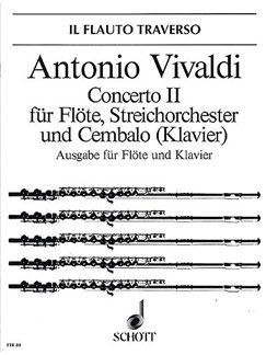 Vivaldi: Concerto in G Minor for Flute, Strings and Harpsichord Books | Flute, Keyboard