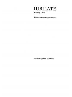Jubilate - Korbog 1978 (Choral Anthology) Bog | SSA
