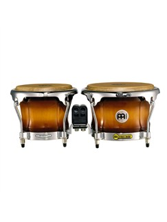 "Meinl: Free Ride Series Wood Bongos (Patented In Germany) - 7""x8.5""/Gold Amber Sunburst Instruments 