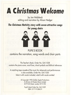 Jan holdstock a christmas welcome pupils book melody line jan holdstock a christmas welcome pupils book books melody line lyrics stopboris Gallery