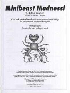 Debbie Campbell: Minibeast Madness! - Pupil's Script Books |