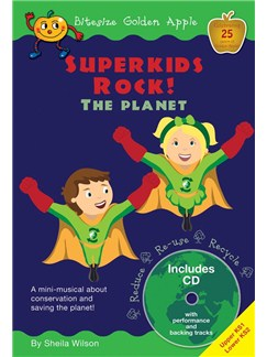 Sheila Wilson: Superkids Rock! The Planet (Bitesize Golden Apple) Books and CDs | Voice