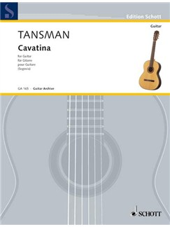 Alexandre Tansman: Cavatina Books | Guitar