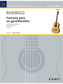 Joaquín Rodrigo: Fantasía Para Un Gentilhombre Books | Guitar, Piano