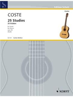 Napoléon Coste: 25 Etüden Op. 38 Books | Guitar